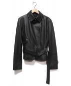 MAX MARA WEEK END LINE(マックスマーラ ウイークエンドライン)の古着「レザージャケット」|ブラック