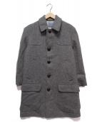 PENDLETON(ペンドルトン)の古着「ウールヘリンボーンコート」|グレー