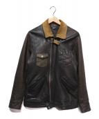glamb(グラム)の古着「Blaine leather JKT」 ブラック