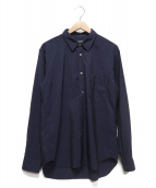 COMME des GARCONS HOMME DEUX(コムデギャルソン オム ドゥ)の古着「シルク混シャツ」 ネイビー