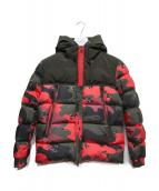 MONCLER(モンクレール)の古着「EYMERICダウンジャケット」|ブラック×レッド