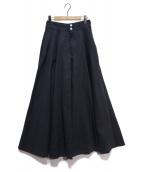 WOADBLUE(ウォードブルー)の古着「VERBENAロングフレアスカート」|ネイビー