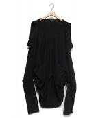 LIMI feu(リミフゥ)の古着「変形カットソー」|ブラック
