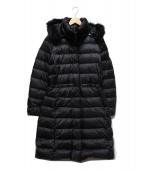 POLO RALPH LAUREN(ポロラルフローレン)の古着「ファー付フーデッドダウンコート」|ブラック