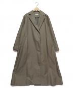 Loungedress(ラウンジドレス)の古着「ツイルロングコート」 オリーブ