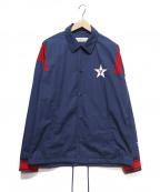 VOTE MAKE NEW CLOTHES×AMERICAN RAG CIE()の古着「コーチジャケット」 ネイビー×レッド