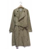 ROBE DE CHAMBRE COMME DES GARCONS(ローブドシャンブル コムデギャルソン)の古着「スタンドカラートレンチコート」|ベージュ