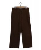 AURALEE(オーラリー)の古着「SELVEDGE WOOL VIYELLA PANTS」|ブラウン