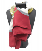 HERMES(エルメス)の古着「スカーフ」 レッド×ホワイト