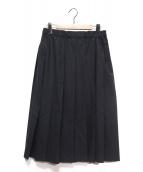 Charpentier de Vaisseau(シャルパンティエ ドゥ ヴェッソ)の古着「サマーウールプリーツスカート」|ブラック