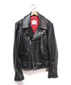Lewis Leathers(ルイスレザーズ)の古着「LIGHTNINGダブルライダースジャケット」|ブラック