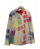 Vivienne Westwood(ヴィヴィアン・ウエストウッド)の古着「マニュフェストプリントオージークラークシャツ」|ベージュ