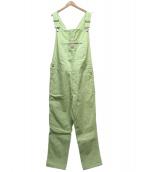 X-LARGE(エクストララージ)の古着「DENIM OVERALLS」|グリーン×ホワイト