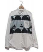 COMME des GARCONS HOMME DEUX(コムデギャルソン オム ドゥ)の古着「フロント切替シャツ」|ホワイト×ネイビー