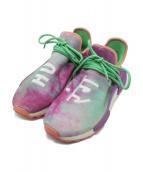 adidas×PHARRELL WILLIAMS(アディダス×ファレル・ウィリアムス)の古着「PW HU HOLI NMD MC」|パープル×グリーン