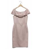 Christian Dior(クリスチャンディオール)の古着「カシミヤノースリーブワンピース」 ピンク