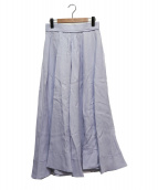 MADISON BLUE(マディソンブルー)の古着「リネンサーキュラースカート」|ライトブルー