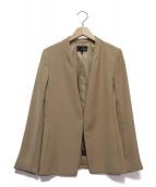 22 OCTOBRE(22オクトーブル)の古着「バックサテンノーカラージャケット」|ベージュ