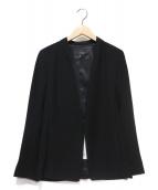22 OCTOBRE(22オクトーブル)の古着「バックサテンノーカラージャケット」|ブラック