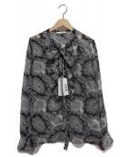 NARA CAMICIE(ナラカミーチェ)の古着「ペイズリー柄ブラウス」|ブラック×ホワイト