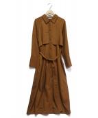 HERENCIA(ヘレンチア)の古着「トレンチ風ワンピース」 ブラウン