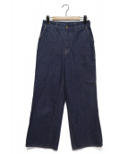 45R(フォーティファイブアール)の古着「AD3000藍シャルロットデニムパンツ」 インディゴ