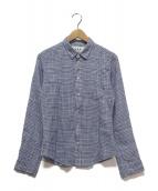 Frank&Eileen(フランクアンドアイリーン)の古着「BARRYリネンチェックシャツ」|ブルー×ホワイト