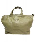 IO PELLE for PAPILLONNER(イオペレフォーパピヨネ)の古着「2WAYハンドバッグ」|オリーブ