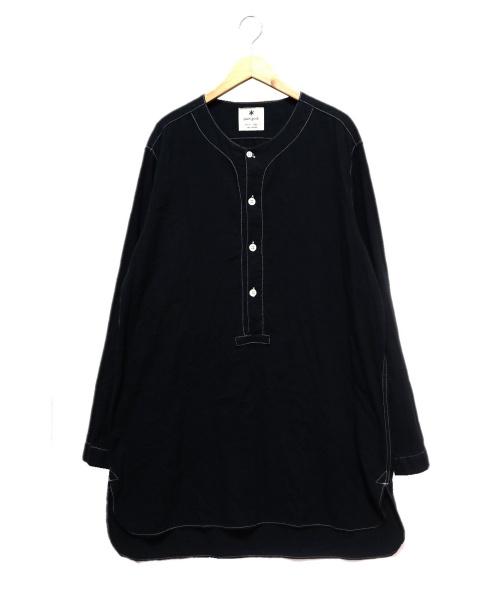 Snow peak(スノーピーク)snow peak (スノーピーク) ナシジスリーピングシャツ ブラック サイズ:XL   日本製の古着・服飾アイテム