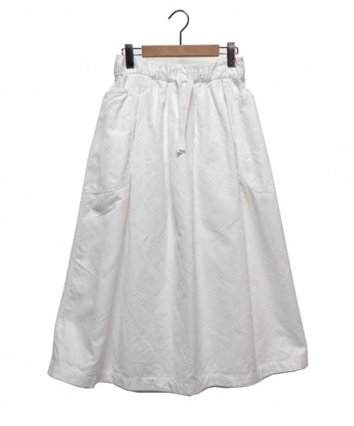 ORCIVAL(オーシバル)ORCIVAL (オーチバル) リネンクロスギャザースカート ホワイト サイズ:1の古着・服飾アイテム