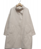 FRAMeWORK(フレームワーク)の古着「メルトンスタンドカラーコート」|ベージュ