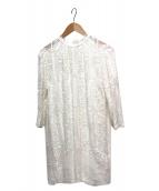 GRACE CONTINENTAL(グレースコンチネンタル)の古着「ハイネック刺繍チュニックブラウス」 ホワイト