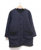 STAMMBAUM(シュタンバウム)の古着「リバーシブルボアジャケット」 ネイビー×グレー