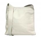 MARGARET HOWELL idea(マーガレットハウエルアイデア)の古着「スクエアレザーショルダーバッグ」|アイボリー