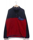 Patagonia(パタゴニア)の古着「SYNCHILLA SNAP-T フリースプルオーバー」|ネイビー×レッド