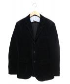 The FRANKLIN TAILORED(フランクリンテーラード)の古着「太畝コーデュロイ3Bジャケット」|ブラック