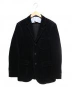 The FRANKLIN TAILORED(フランクリンテーラード)の古着「太畝コーデュロイ3Bジャケット」 ブラック