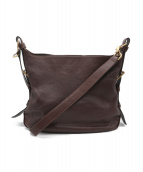 土屋鞄(ツチヤカバン)の古着「AGIRシュリンクレザーショルダーバッグ」|ブラウン