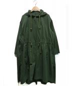 ROPE mademoiselle(ロペマドモアゼル)の古着「ハードカノコミリタリーフードコート」|オリーブ