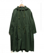 ROPE mademoiselle(ロペマドモアゼル)の古着「ハードカノコミリタリーフードコート」 オリーブ