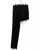 ()の古着「アシンメトリーパンツ」 ブラック
