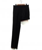 DRESSEDUNDRESSED(ドレスドアンドレスド)の古着「アシンメトリーパンツ」 ブラック