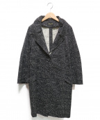 HIROKO KOSHINO(ヒロコ コシノ)の古着「総柄コート」|ブラック