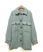ROPE mademoiselle(ロペマドモアゼル)の古着「シャギーCPOジャケット」 ライトブルー