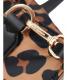 中古・古着 MICHAEL KORS (マイケルコース) 2WAYトートバッグ ブラウン×ブラック 35F9GFVT9C レオパード柄:12800円