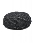 FUMIKA UCHIDA(フミカ ウチダ)の古着「ニットベレー帽」|ブラック