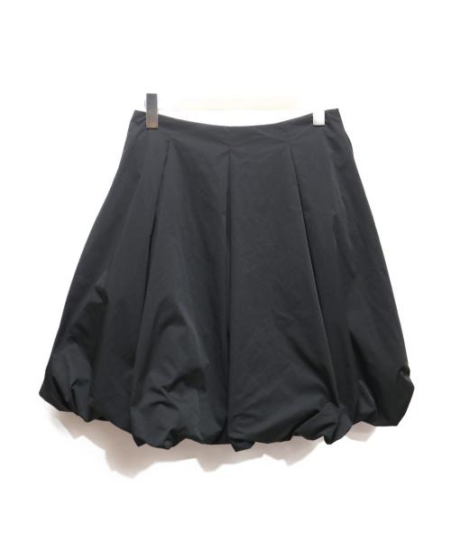 FOXEY NEWYORK(フォクシーニューヨーク)FOXEY NEWYORK (フォクシーニューヨーク) ストレッチグログランスカート ブラック サイズ:42の古着・服飾アイテム