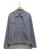 OSH KOSH(オシュコシュ)の古着「70'S ヒッコリースイングトップ」|ブルー×ホワイト