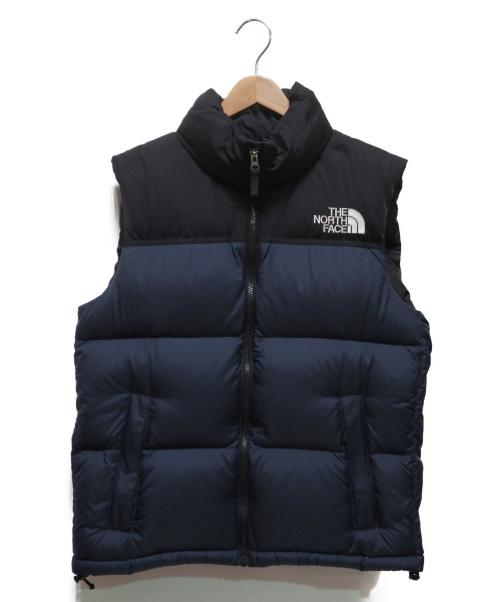 THE NORTH FACE(ザノースフェイス)THE NORTH FACE (ザノースフェイス) Nuptse Vest ネイビー×ブラック サイズ:Lの古着・服飾アイテム