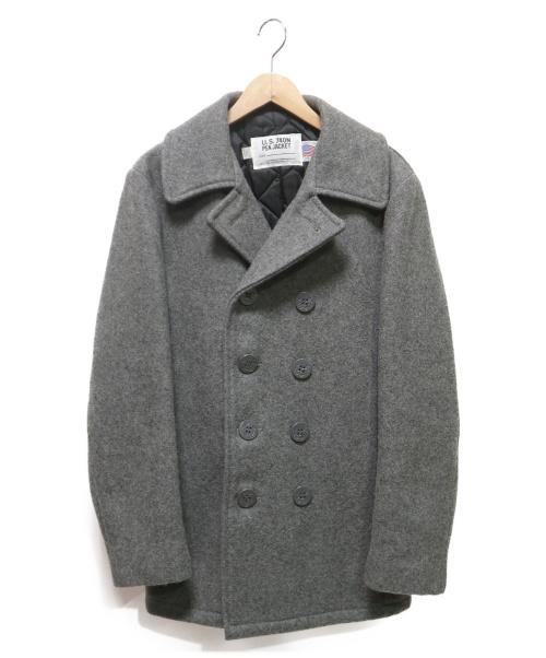 Schott(ショット)Schott (ショット) 740NメルトンPコート グレー サイズ:38の古着・服飾アイテム